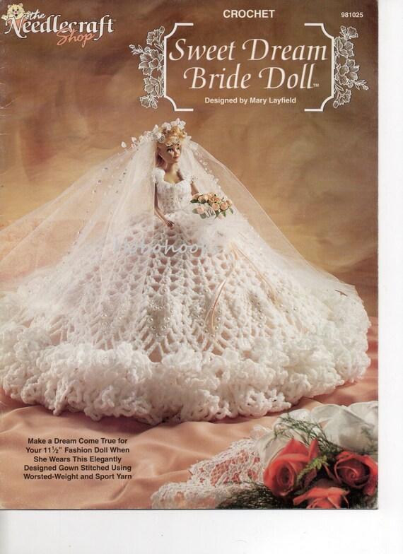Crochet Pattern Wedding Doll : Teenage dolls crochet pattern dolls crochet wedding dress