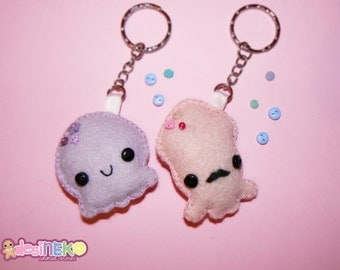 Octopus Squid Keychain Plushie  Kawaii Tentacle Friends