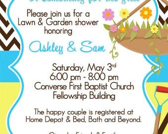 Lawn & Garden Shower / Honey Do Invitation / Couples Shower / Tool Shower / Spring Wedding / Wedding Shower / Digital Invitation / Digital