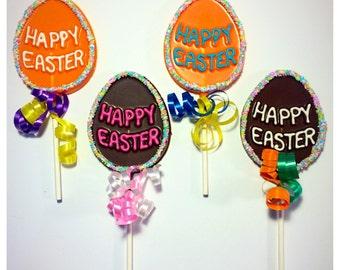 Happy Easter Belgian Chocolate Lollipops