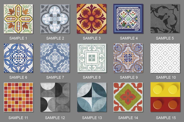 Esempi di adesivi per piastrelle Scegli 1 campione da 15