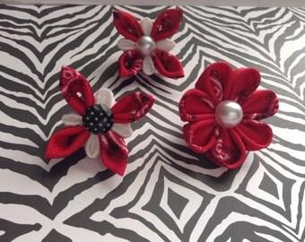 Red bandana lapel pin