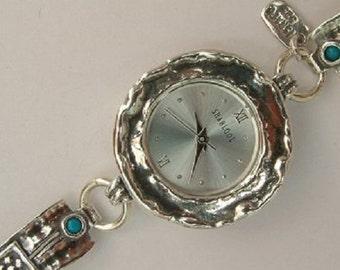 SHABLOOL watch, sterling silver bracelet watches,opal watch,israel watch,women watch,women watches,sterling silver watches,sterling watch