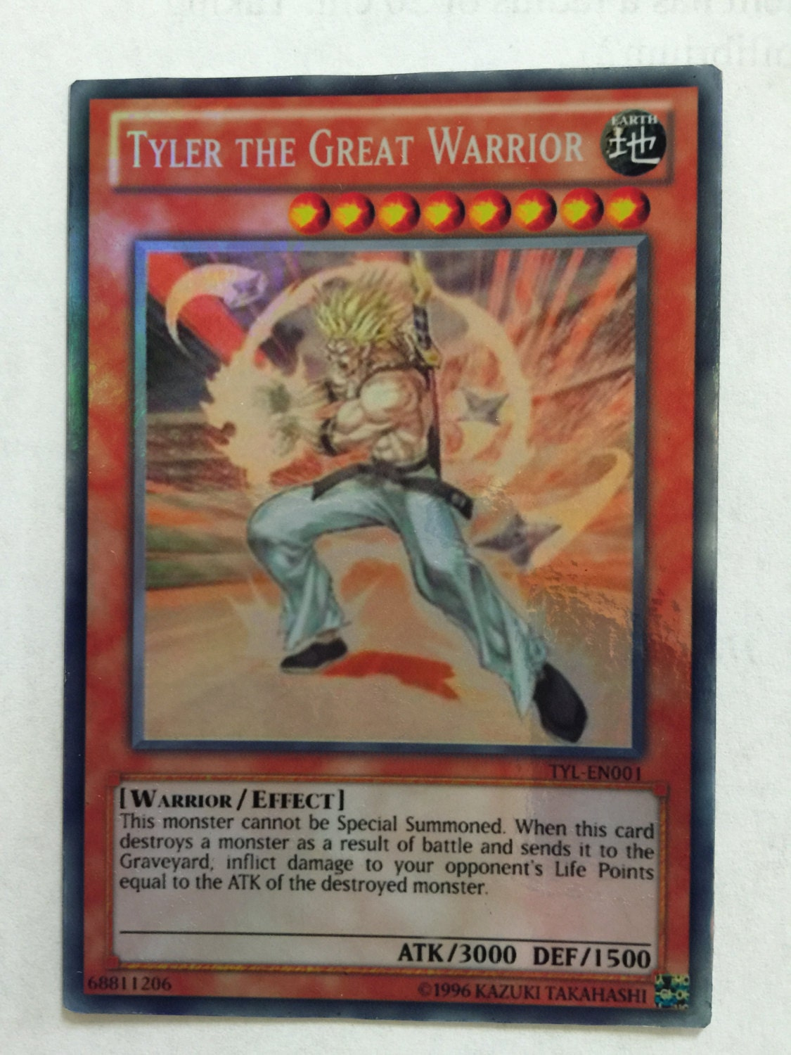 yugioh special card lot of 1 tyler the great warrior super