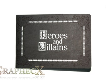 Once Upon a Time Heroes and Villains inspired personalized journal notebook