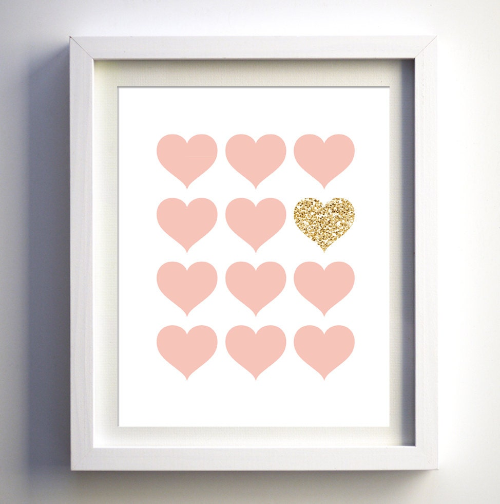 Pink and glitter prints nursery wall art pink and glitter - Sparkle wall decor ...