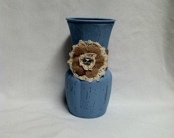 Shabby Chic - Blue Flower Vase