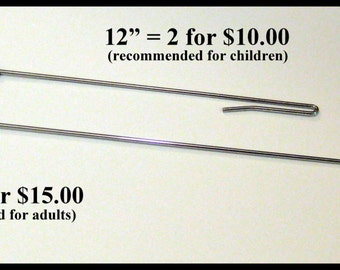 """SET of two (2) 17"""" arm-rod for hand puppets"""