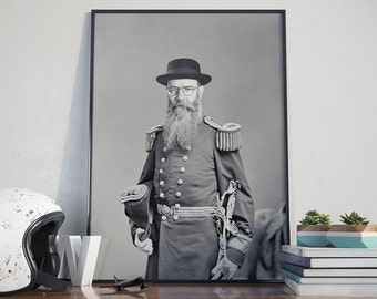 Admiral Heisenberg Poster - Breaking Bad, Walter White, Historic Portrait