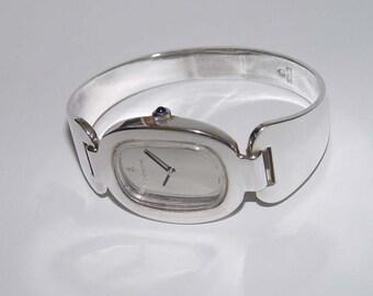1980s Ladys Corum Love Bond Sterling Silver Watch 57300
