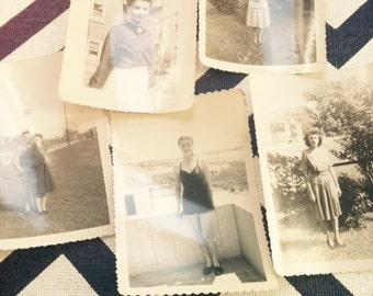 Set of 5 vintage black and white photos