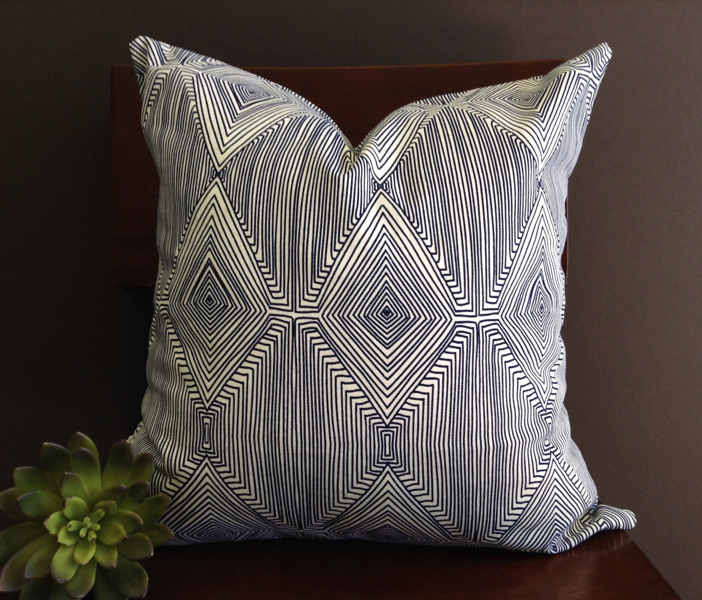 Modern Pillow Covers : Pillow Cover Navy Blue Modern Pillow Cover by StudioPillows