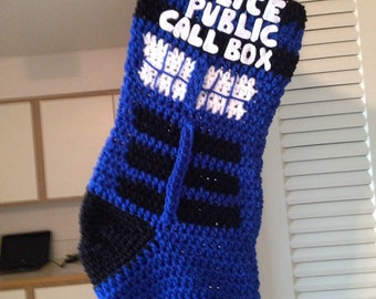 Christmas Stocking Tardis Stocking