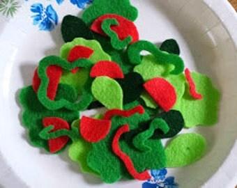 Salad Felt Pretend Food