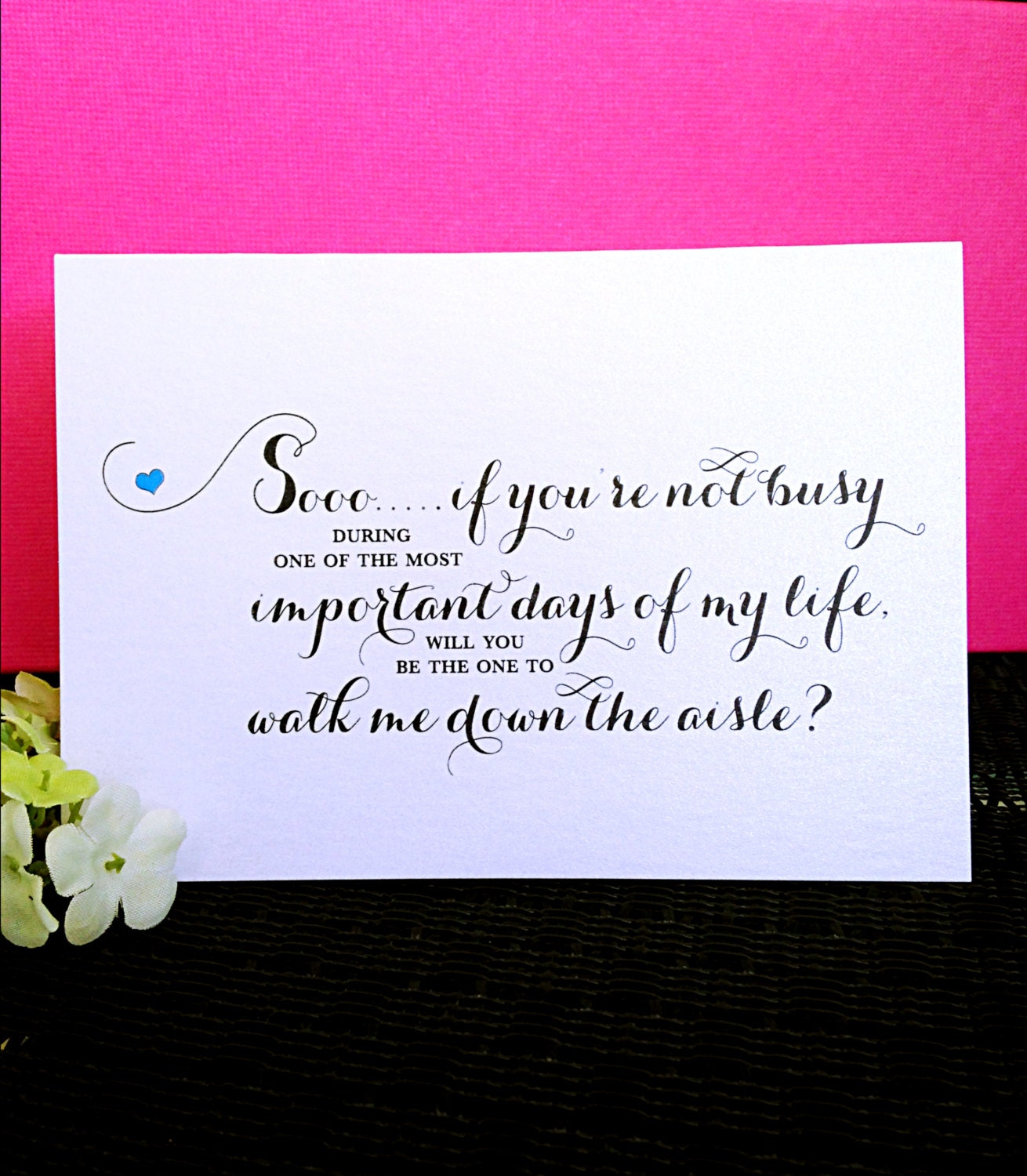 Will You Be The One To Walk Me Down The Aisle Wedding Cards