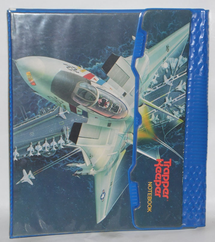 Vintage 1989 TRAPPER KEEPER With Original Folder And Pad Of