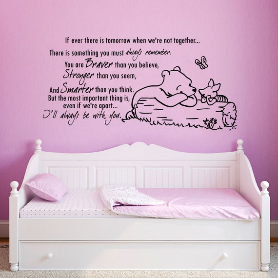 Wall stickers citations vinyl sticker home par for Stickers ourson chambre bebe