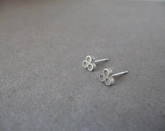 Sterling Silver Geometric Earrings, Silver Minimalist Earrings, Silver stud Earrings