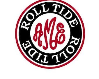 Alabama Roll Tide monogram instant download cut file - SVG DXF EPS ps studio3 studio (monogram font sold separately)