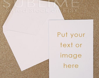 Styled Stock Photography / Blank Card / Mockup / Card Design / Card Mock up / Styled Stationery /  2 JPEG Images / StockStyle-428