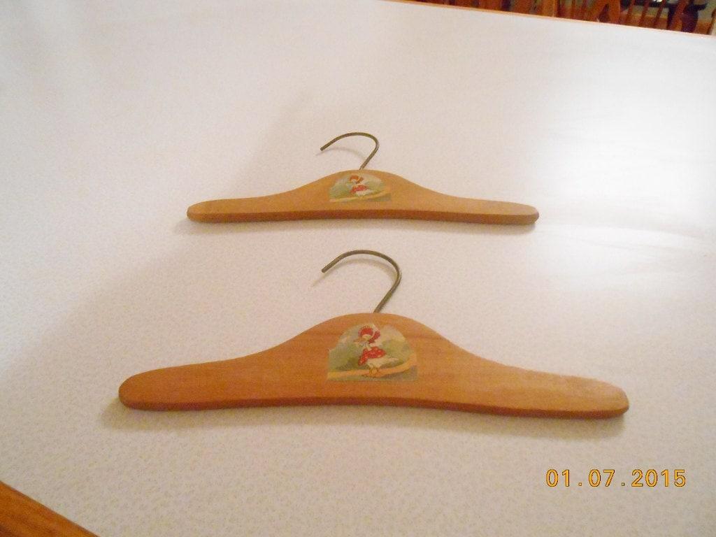 vintage wooden hangers children s clothes by