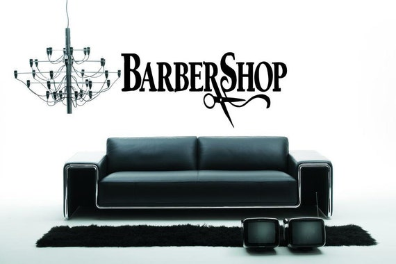 Barber Shop Wall Decal Sign Business Logo Hair By