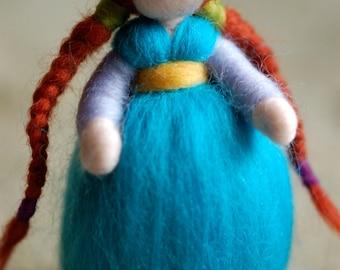 Anna, Waldorf inspired tale, wool
