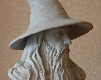 Gandalf bust inspired lord of the rings , the hobbit, LOTR, Tolkien, mage , magic, sculpture, fantasy, wizard
