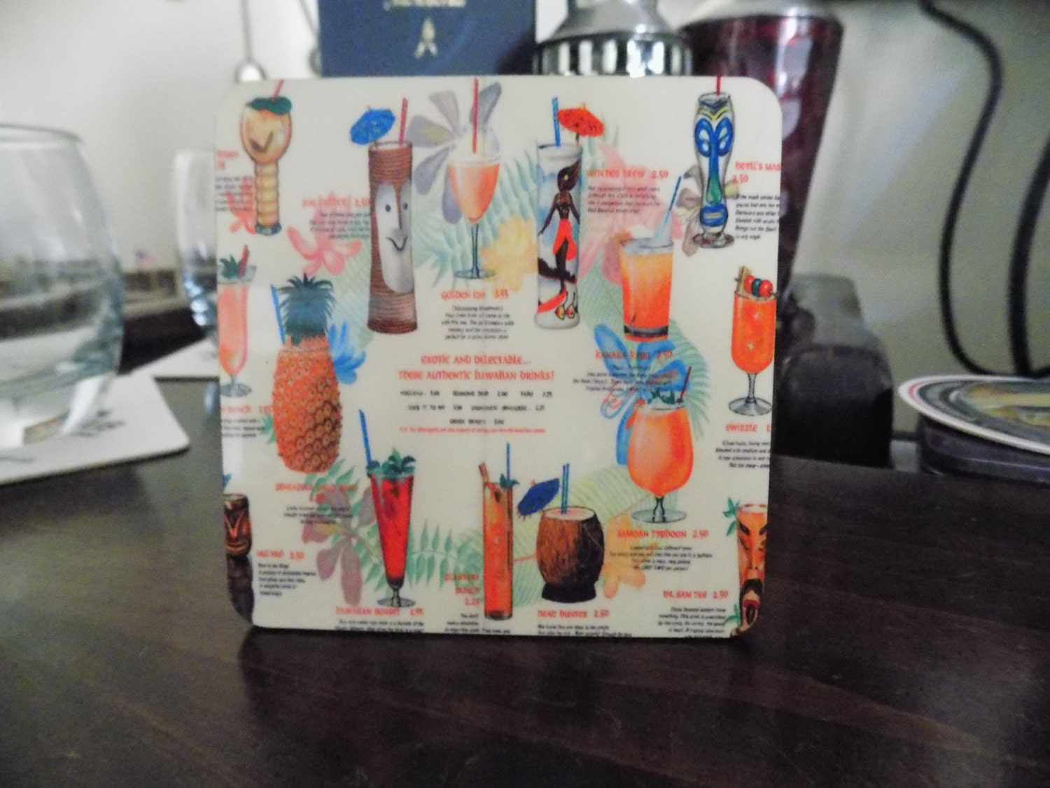 Awesome Tiki Bar Drink Coaster These Are So Cool With All The
