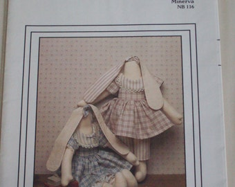 "The Cornell Collection ""Minerva"" NB 116 pattern,18"" rabbit doll,vintage"