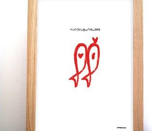 Poster sardine 'love'