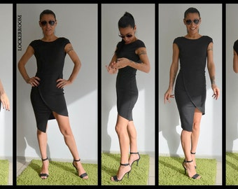 Black Dress / Mini Dress / Party Dress / Elegant black dress / Little Black Dress / Open back dress/Tube dress