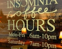 """Store Front Your Logo Store Hours Sign Store Display Decal Boutique Business Sign with your Custom Logo 16"""" x 16"""""""