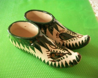Ceramic  Shoe -- Handmade ,  Hand  Painted , from                                Uzbekistan