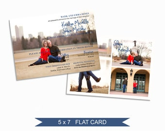 Wedding Card Template - 5x7 Digital Photography Photoshop Files - Template for Photographers - WC01 - INSTANT DOWNLOAD