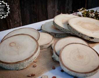 "10 to 11"" Large Aspen Tree Slice - 10-11 inch - 1.5 inch thick - Rustic Wedding Decor ~ Summer Wedding"