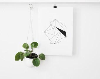 Print 'diamonds'... A3 poster black or white