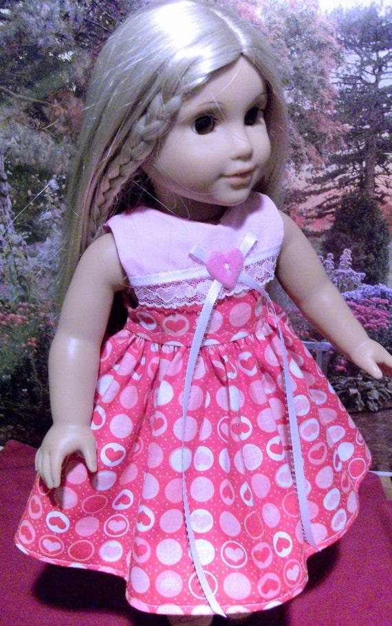 Valentine's dress #3 for American Girl 18 inch dolls