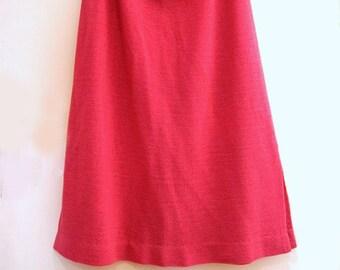 Vintage 80s pink midi skirt 1980s