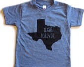 Texas Forever kids tee in athletic blue