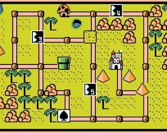 Super Mario Bros. 3 World 2 Map -- Cross Stitch Pattern!
