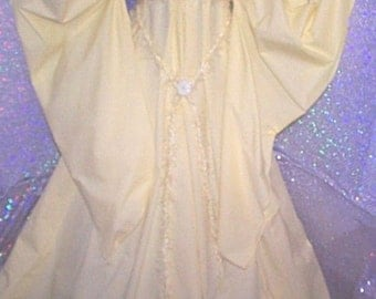 Renaissance fantasy Yellow Chemise costurme gown dress under dress or by itselt