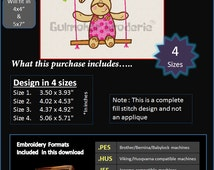 Bunny In Swing Cute Embroidery designs Multiformat Pes, Hus, Jef, Dst, Exp Machine embroidery Product Code : Pram