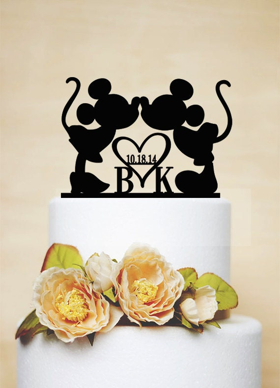 etsy disney wedding cake toppers custom wedding cake topper mickey amp minnie par 14045