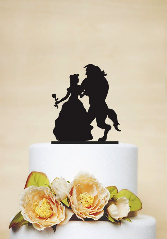 beauty and the beast wedding cake topper rose and beast wedding cake toppercustom cake 11250