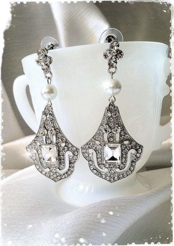 1920s Art Deco Great Gatsby Inspired Bridal Crystal