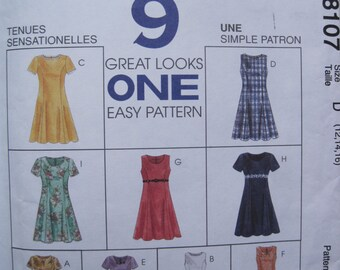 UNCUT Misses Dress in Two Lengths - McCall's Sewing Pattern 8107