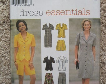 UNCUT Misses' / Miss Petite Dress or Top, Skirt, Pants and Shorts - Size 8 to 12 - Simplicity Sewing Pattern 7524