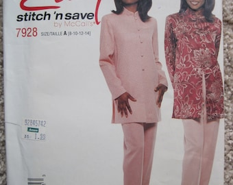UNCUT Misses' Tunic And Pull-On Pants - Size 8 to 14- McCalls Pattern 7928 - Vintage 1995