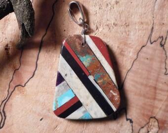 Inlaid Native American Pendant